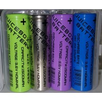 JuiceBox 3.6v 18650 - 1500mAh Capacity - High Discharge 15C (22.5 Amps) Lithium Ion (10 Pack)