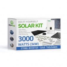 3000 Watt (3kW) DIY Solar Panel Kit w/String Inverter