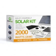 2000 Watt (2kW) DIY Solar Install Kit w/Microinverters