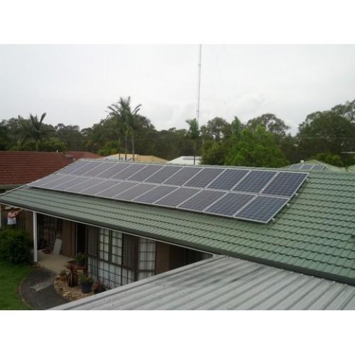 6000 watt 6kw diy solar panel kit w string inverter for Solar panel cost for 1000 sq ft home
