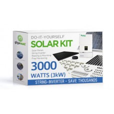 3000 Watt (3kW) DIY Solar Panel Kit w/String Inverter