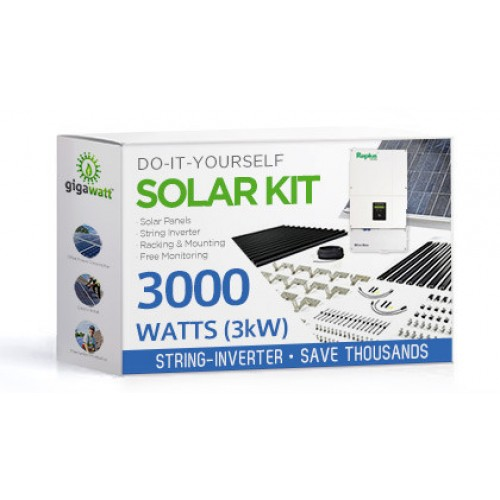 3000 Watt 3kw Diy Solar Panel Kit W String Inverter