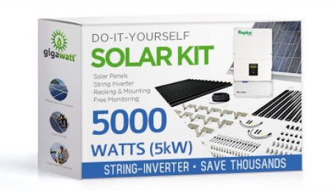 5000 Watt (5kW) DIY Solar Panel Kit w/String Inverter